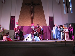 Youth Group's presentation of the Stations of the Cross